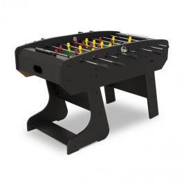 Klarfit San Siro, csocsóasztal, verseny méret, összecsukható, üreges rudak, siklócsapágy, fekete