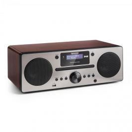Auna Harvard, mikrorendszer, DAB/DAB+, FM tuner, CD lejátszó, feltöltés USB-vel, diófa