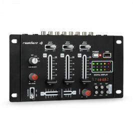 Resident DJ DJ-21 DJ-mixer keverő pult, USB, fekete