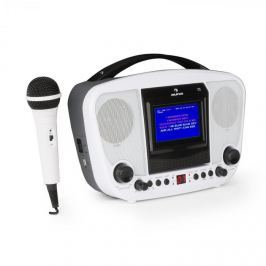 Auna KaraBanga karaoke rendszer, mikrofon, TFT színes kijelző, 4,3'', bluetooth, fehér
