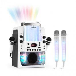 Auna Kara Liquida BT karaoke rendszer, szürke + Dazzl karaoke mikrofon készlet, LED megvilágítás