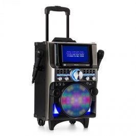 Auna DisGo Box 360, BT karaoke rendszer, 2 mikrofon, HDMI, BT, LED, USB, kerekek, fekete