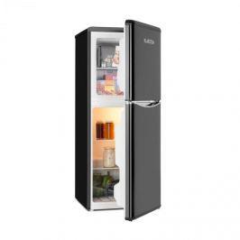 Klarstein Monroe L hűtőszekrény fagyasztóval, 70l/38l, retró dizájn, fekete