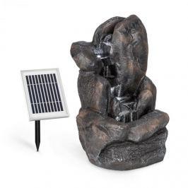 Blumfeldt Felsquell napelemes vízesés szökőkút, akkumulátor, 2 kW szolár panel, 3 LED