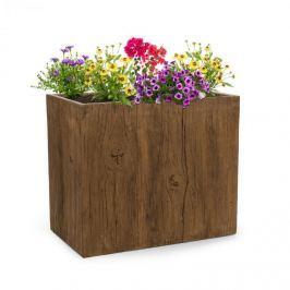 Blumfeldt Timberflor,kaspó, 70 x 60 x 40 cm, üveggyapot, kintre és bentre, barna