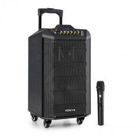 Vonyx VPS10 audio rendszer, 250W, USB/SD port, bluetooth, 12V/4,5Ah, akkumulátor