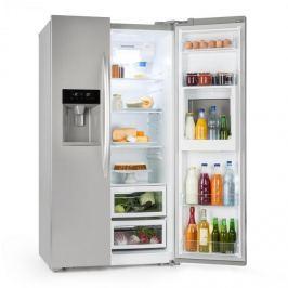 Klarstein Grand Host XXL, hűtőszekrény, 550 liter, jég- és víz adagoló, A+, ezüst