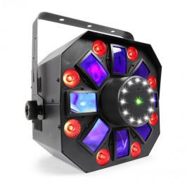 Beamz MULTIACIS IV LED DERBY, LÉZER, WASH ÉS STROBE DMX-/STAND-ALONE MÓD