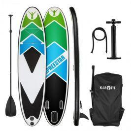 Klarfit Spreestar 325, felfújható paddleboard, SUP deszka, 325x15x86cm, fekete-kék