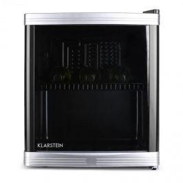 Klarstein Beerlocker Mini-Kühlschrank 46 Liter 15 Flaschen Klasse B schwarz