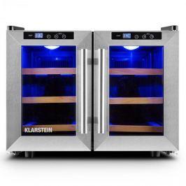 Klarstein Reserva Saloon, 40 liter, borhűtő, 12 üveg, rozsdamentes acél, LED
