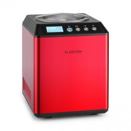 Klarstein Vanilla Sky fagylaltkészítő gép, kompresszor, rozsdamentes acél, 2l, 180 W, piros
