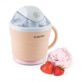 Klarstein IceIceBaby, krémes narancs, fagylaltkészítő gép, 0,75 l, fogantyú, 7,3-9,5 W