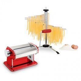 Klarstein Pasta Set, tészta készítő gép, piros & Verona tészta szárító