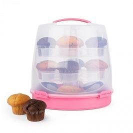 Klarstein Pinkkäppchen, rózsaszín, tortabúra, süteményes doboz, muffin tartó, 24 db, Ø26 cm