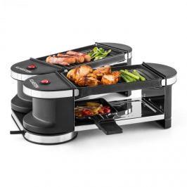 Klarstein Tenderloin, mini raclette grillsütő, 600 W, 360°-os alaprész, 2 grillezőlap