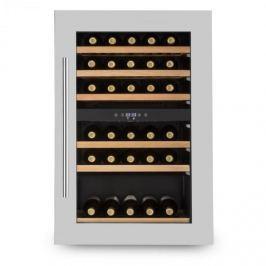 Klarstein Vinsider 35D, beépített borhűtő, 128 liter, 41 palack bor, 2 zóna