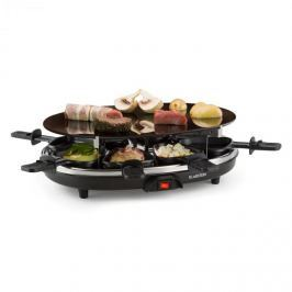 Klarstein Blackjack, fekete, raclette grillsütő, 8 személyes, üvegkerámia, nemesacél