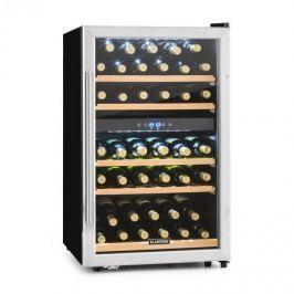 Klarstein Vinamour 40D, 135 l, borhűtő, 2 zóna, 41 palack, előlap rozsdamentes acélból