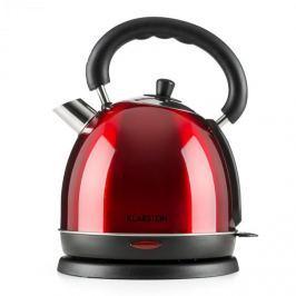 Klarstein Teatime, vízforraló, teakancsó, 3000 W, 1,8 l, nemesacél, rubinvörös
