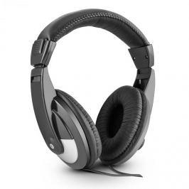 Skytec SH120 DJ fejhallgató, 105 dB, műbőr, 2m kábel, adapter