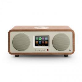 NUMAN One - 2.1 formatervezett internet rádió, diófa, 20 W, bluetooth, csatlakozás Spotify szolgáltatáshoz, DAB+