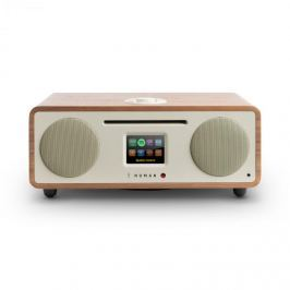 NUMAN Two, diófa, 2.1 internet rádió, CD, 30 W, USB, bluetooth, Spotify Connect, DAB+