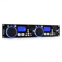 Kettős DJ kontroller Ibiza IDJ2, USB, SD, MP3, scratch