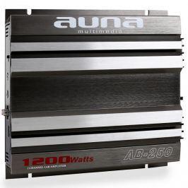 2-csatornás Auna AB-250 autoerősítő, hidalt 1200W