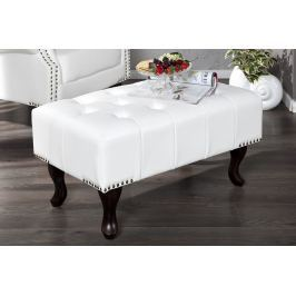 Ülőke CHESTERFIELD STOOL WHITE - fehér