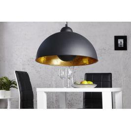 Függesztékes lámpa CORVUS - fekete/arany