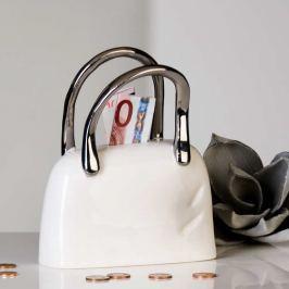 Keramická pokladnička TAMSOY - biela