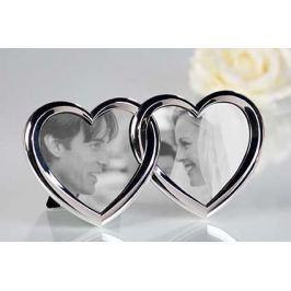 Képkeret DOUBLE HEARTS - ezüst