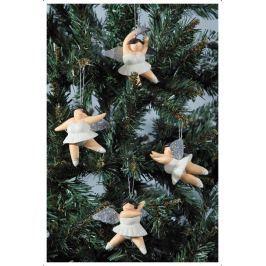 Set 4 ks visiacich anjelov BETTY - biela