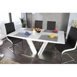 Széthúzható étkezőasztal VALENCIA 160-220 cm - fehér