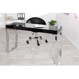 Íróasztal SALMA magasfényű - fekete