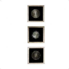 Dekorácia na stenu PRIME - strieborná/čierna