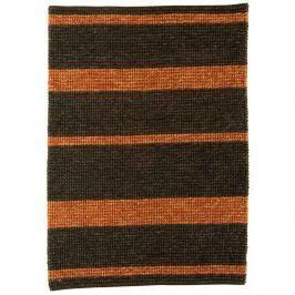 Jute Loop szőnyeg - sötétszürke/piros csíkos