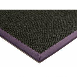 Szizálkender szőnyeg - fekete lilával szegélyezve