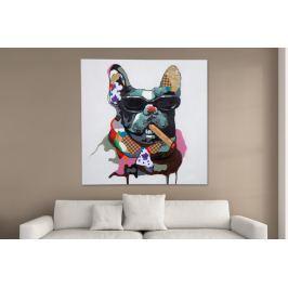 Kép KUTYA BIG BOSS POP ART 80x80 cm - olajfestmény