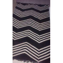 Jeff Banks Kilim Modern szőnyeg 120x180cm Zig Zag - fekete/bézs