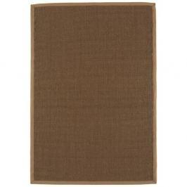 Szegélyezett Szizálkender szőnyeg 160x230cm - mokka és bézs - szegélyezett