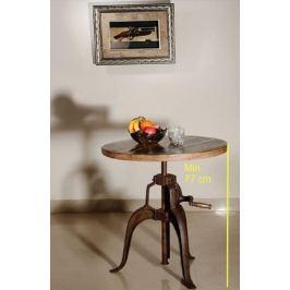 INDUSTRY kerek asztal, öntvény és öregfa