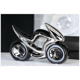 Motocykel RAC, 23 cm - strieborná