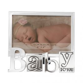 Képkeret BABY, 16,50 cm - ezüst