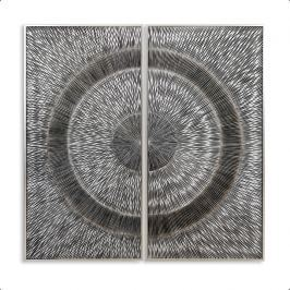 Obraz KAHU - strieborná, hnedá, sivá