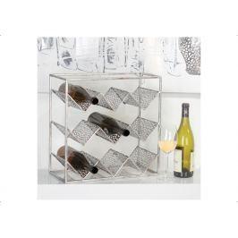 Stojan na víno PURLE, 40  cm - strieborná