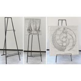 Stojan na obrazy LOF, 140  cm - antracitová