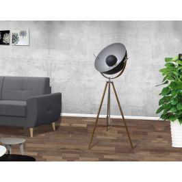 Stojaca lampa STODY 166 cm - čierna, prírodná