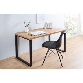 Písací stôl DELA 128 cm - čierna, prírodná